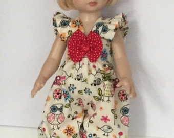 Lil Sassy Looking For Tiny Ladybugs Romper With Headband And Bow For  10 Inch Tonner Patsy By TnTCreations