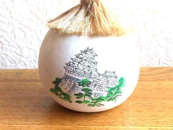 Japanese Ceramic Bell - Dorei - Suzu - Amulet - Lucky Charm - Vintage Bell - Nagoya Castle in Nagoya - Migawari Omamori (B1-23)