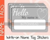 10 Name Tags Wedding Valentines Day Party Ice Breaker