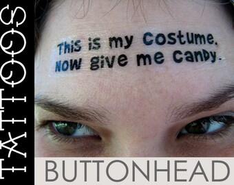 Funny Cheap Easy Halloween Costume DIY Pumpkin Head Decal Temporary Tattoos