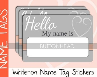 10 Name Tags Wedding Ice Breaker