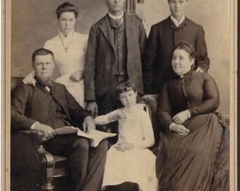 Antique Victorian family portrait photo