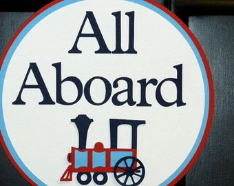 all aboard train – Etsy