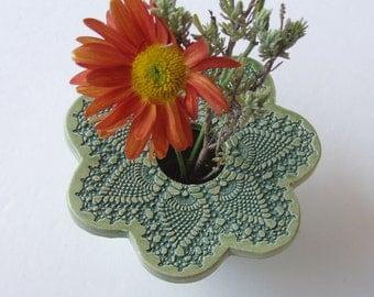 Handmade Ceramic Vase . Petite Ikebana Vase . Pottery Flower Vase