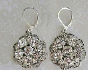 Bridesmaids Earrings, Silver Dangle crystal Earrings, Bridesmaids Jewelry, Bridesmaids Gift, Wedding Jewelry, Bridal Earrings, Drop Earrings