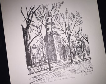 Williamsburg Bruton Parish Church Print by Ray Davis