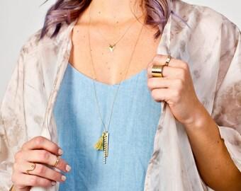 Vertical Tassel Necklace