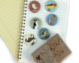 Wild Bird Magnets--Woodland Birds--Set of 6
