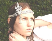 Gatsby headpiece - Flapper headpiece - Wedding hair accessory - Great Gatsby Headband - Gatsby jewelry - Flapper headband - Gatsby accessory