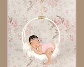 Baby Romper, Low V Back Onesie, Romper Open Back,  Newborn Photo Prop, Kid Mohair Silk