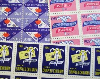 300 Vintage Easter Seals - Help Crippled Children