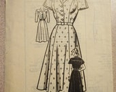 RESERVED for Anna - Vintage Marian Martin 9249 - 1940s/1950s Misses' Dress Pattern, *Bust 36*