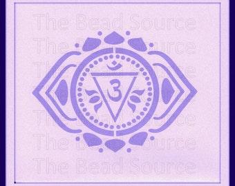 Third Eye Chakra Stencil, Yoga Stencil, Om, Chakra Symbol, Sanskrit, Mylar Stencil, Art Stencil, Chakra Stencil, pochoir, Anja