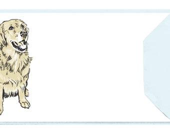 Golden Retriever - Set of 5 Letterpressed Notecards