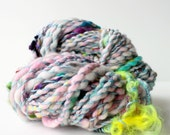 handspun yarn, hand spun yarn, handspun art yarn, boucle yarn, free spirited, chunky yarn, chunky wool yarn, wild yarn, wool .. baby blues