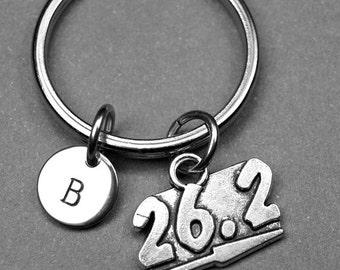 26.2 Keychain, 26.2 keyring, marathon keychain, runners keychain, marathon keychain, running keychain, personalized, initial keychain