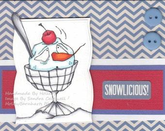 104 Snow Silly Sundae Digi Stamp