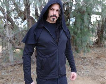 Men's Classic Black Metal Hoodie