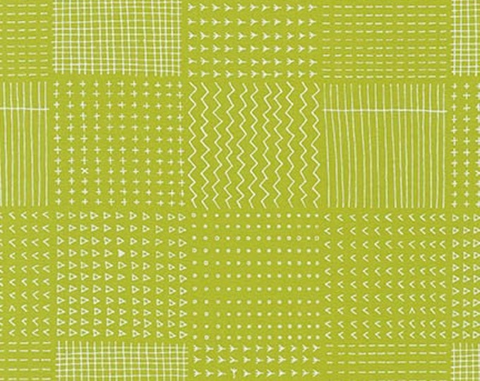 Blueberry Park fabric, Green fabric, Karen Lewis Textiles, Best Seller, Cotton fabric by the yard, Allotments in Limelight, Choose your cut