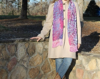 Dazzled ... silk velvet scarf