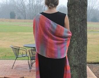 Romance ... hand painted silk wrap, shawl