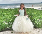 Lace Flower Girl Dress Be...