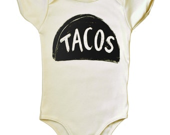 Taco Tuesday Organic Baby Bodysuit, newborn onesie, unique baby gift, new dad gift, baby shower gift for mom, organic baby clothes one piece