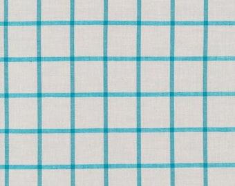 Cloud9 Window Dressing Gray Plaid Organic Cotton Fabric