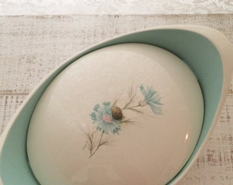 Covered Casserole Dish, Ever Yours Boutonniere, Dish w Lid, Mid Century, Taylor Smith, 1950s, Replacement, TST, One dish with Lid
