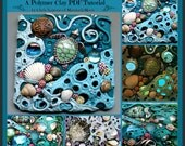 Tide Pool Sun Catcher Tile,  A Polymer Clay PDF Tutorial, Mosaic Tile