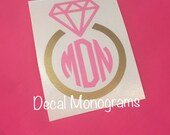 Diamond Ring Monogram Vinyl Decal