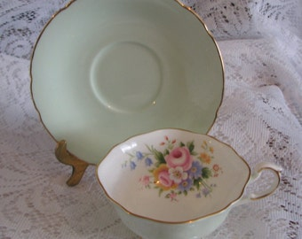Vintage Paragon China Teacup & Saucer, Fine Bone China, Made in England,