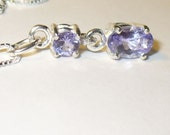 Natural Tanzanite Pendant Necklace - Genuine Gems in Sterling Silver