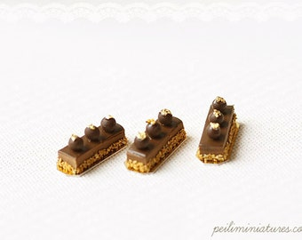 Dollhouse Miniature Food - Dessert Choconoisette