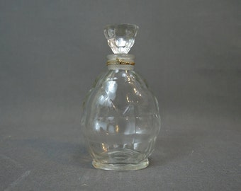 Vintage 1940s  Perfume Bottle - 4 inches tall,  Vigny Heure Intime - empty bottle, no label, Art Deco Vanity Boudoir