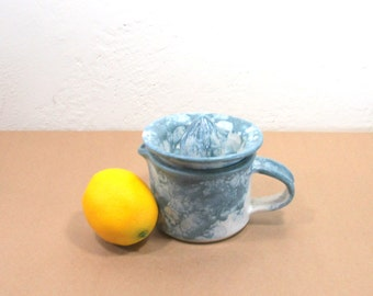 Citrus Juicer - Lemon Reamer - Two Piece Juicer - Strainer - Creamer - Small Pitcher - Kitchen - Housewares - Food Prep - Handmade Pottery