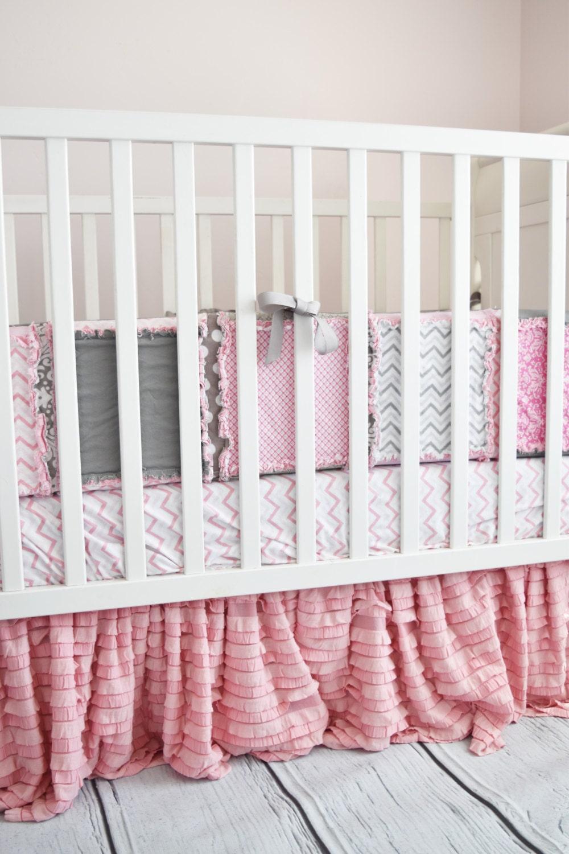 pink crib skirt crib bedding pansy pink dust ruffle