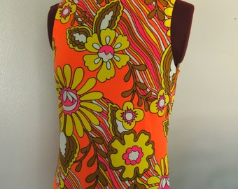 Vintage Sixties Catalina California Medium Maxi Dress