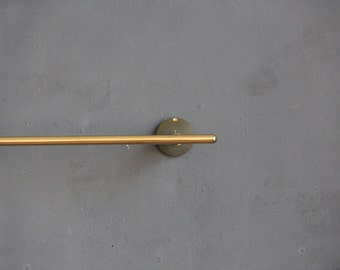 Solid Polished Brass Towel Bar Rod
