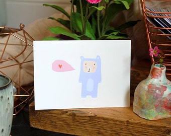 SALE: Bear suit card cc170