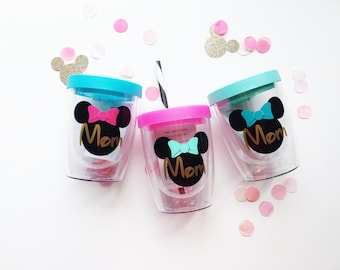 Personalized Minnie /// Stemless Traveler Double Wall Wine Tumbler 10 oz