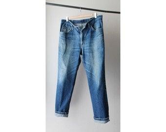 1990's Lee Distressed Blue Boyfriend Jeans