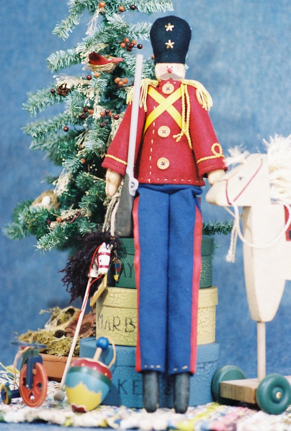 Mailed Cloth Doll Pattern - Christmas Toy Soldier Doll