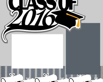 Graduation 2-Page 12X12 Premade Scrapbook Pages or Kit-You choose YEAR