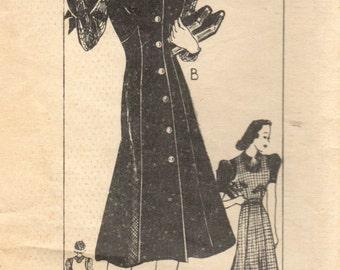 1940s Mail Order 9489 Vintage Sewing Pattern Misses Jumper, Blouse Size 16 Bust 34