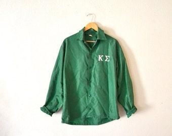 1960's Green Nylon Windbreaker Jacket