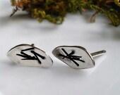 Little Wings Petal Earrings, Sterling Silver Post Earrings, Nature Jewelry, Leaf Earrings, Leaves, Organic Leaf Jewelry, Gift for Her