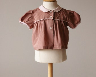 1940s Toffee Swing Blouse~Size 3 Months