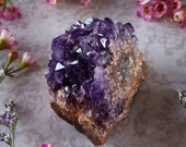 Amethyst Cluster - Amethyst Crystal - Raw Amethyst from Uruguay - Radial Amethyst Sunburst - Metaphysical Tranquility - Mineral Specimen