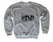 CAT Sweater - Sleep Forever Party Never Crewneck Sweatshirt - Unisex Sizes S, M, L, XL